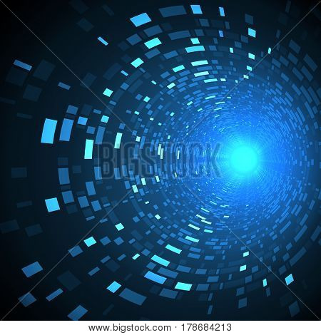 Abstract future technology concept, cyber hi-tech background. Science fiction futuristic design