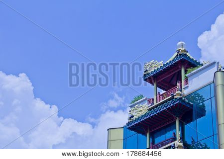 Architecture building exterior and built structure at Thailand