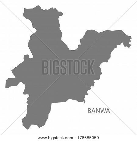 Banwa Burkina Faso Province Map Grey Illustration Silhouette