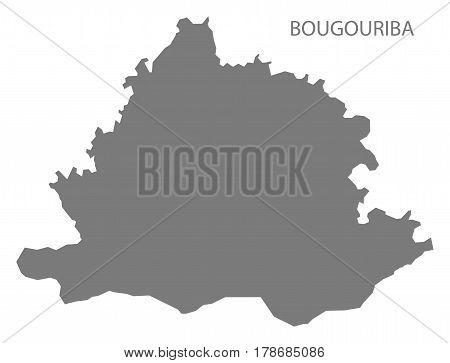 Bougouriba Burkina Faso Province Map Grey Illustration Silhouette