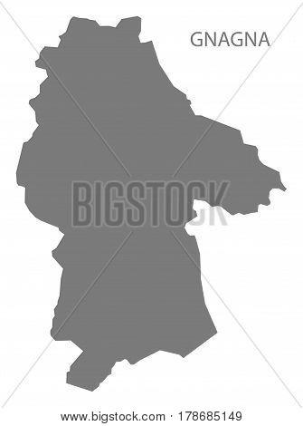 Gnagna Burkina Faso Province Map Grey Illustration Silhouette