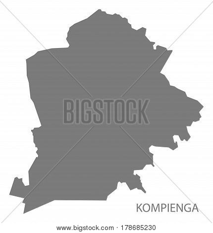 Kompienga Burkina Faso Province Map Grey Illustration Silhouette