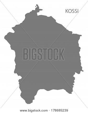 Kossi Burkina Faso Province Map Grey Illustration Silhouette