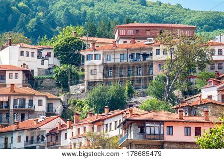 View of Metsovo - town in Epirus on the mountains of Pindus in northern Greece