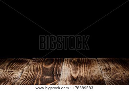 wood panels leading into the dark isolated