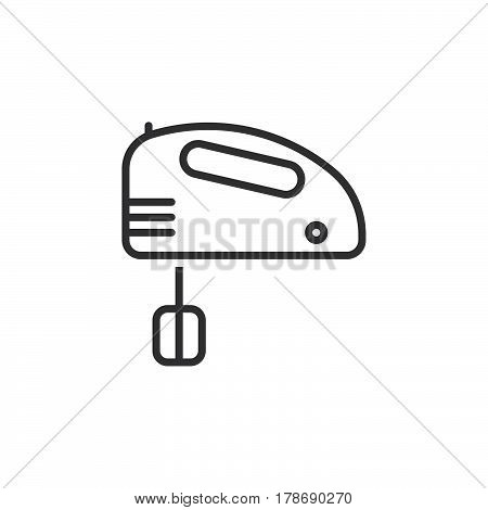 hand mixer line icon outline vector sign linear pictogram isolated on white. logo illustration