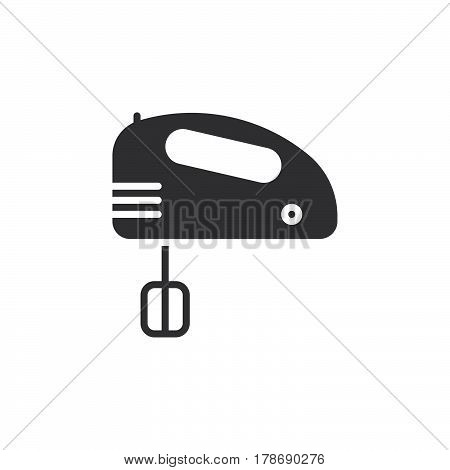 Hand mixer icon vector solid flat sign pictogram isolated on white logo illustration
