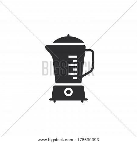 Kitchen Blender icon vector solid flat sign pictogram isolated on white logo illustration