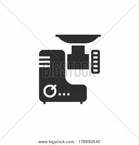 Meat grinder icon vector electric mincer solid flat sign pictogram isolated on white logo illustration