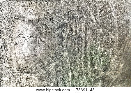 Texture of steel sheet with scratches dirt and damage