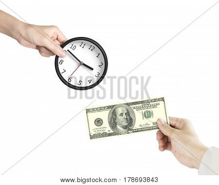Buying Time, Time Is Money Concept.