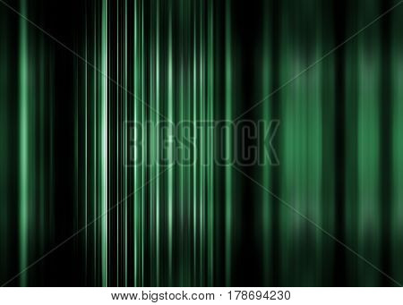 Green motion blur background with selective focus
