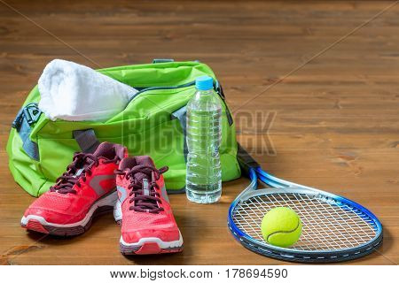 Set Of Sports Facilities For Playing Tennis On The Floor