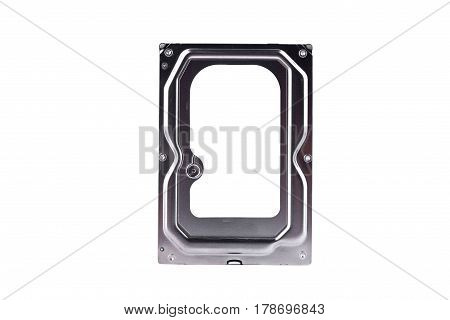 internal harddisk drive is the data storage for the digital data computer on white background  harddisk technology isolated