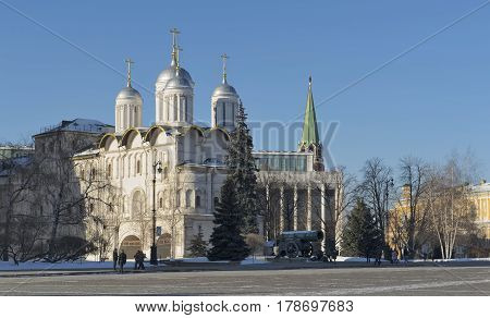 View of the Patriarch's Palace with the Church of the Twelve Apostles in the Moscow Kremlin built for Patriarch Nikon in 1653-1655