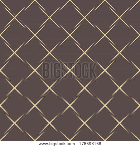 Geometric dotted vector brown and golden pattern. Seamless abstract modern texture for wallpapers and backgrounds