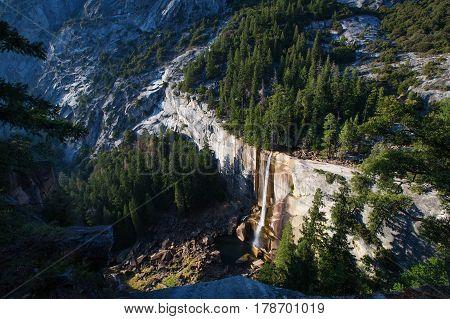 Vernal Falls In Yosemite National Park, California, Usa