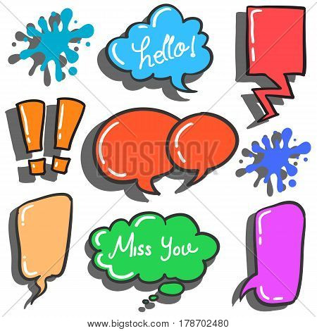 Collection stock of speech bubble various style vector art