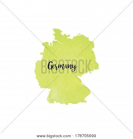 abstract Germany map on a white background