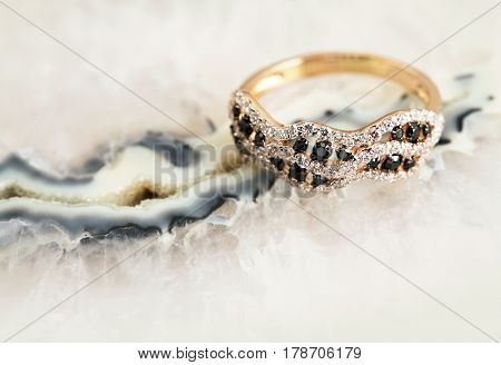 Elegant Jewelry Ring With Brilliants