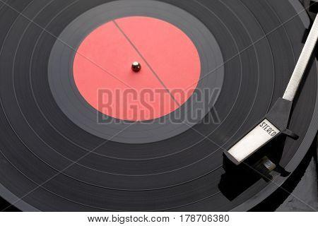 Picture of black vinyl records