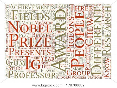 Ig Nobel Prizes Funniest Science Achievements text background word cloud concept poster