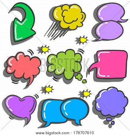 Vector illustration of speech bubble various collection stock