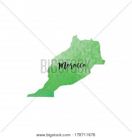 abstract Morroco map on a white background