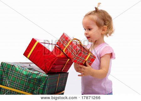 Kid with gifts