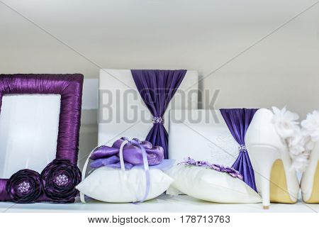 Set of wedding accessories, all for the wedding ceremony