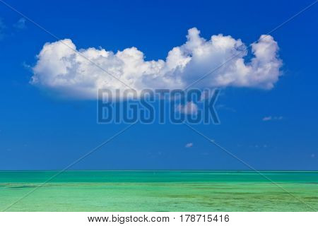 Cloud and ocean - Maldives - nature travel background