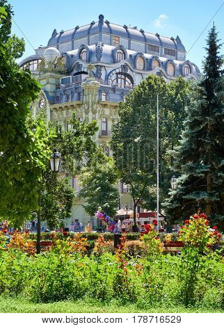 Odessa, Ukraine, central park at midday, famous touristic place, 20 July 2016