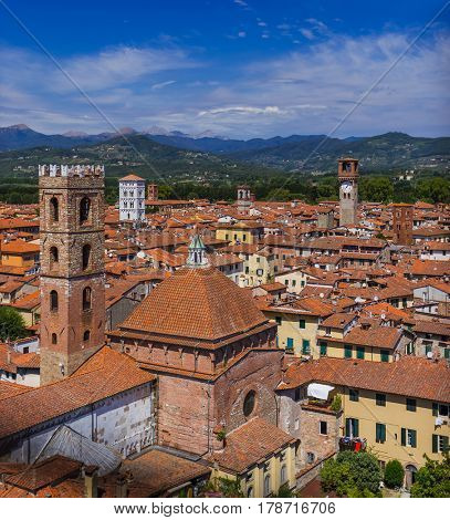 Panorama of Lucca Italia - architecture background