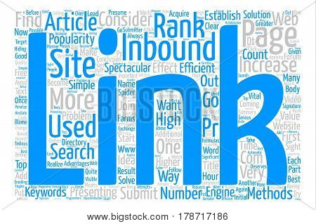 Inbound Links Have a Greater Effect Than One May Presume text background word cloud concept