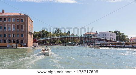 Constitution Bridge - Ponte Della Costituzione In Venice, Italy.