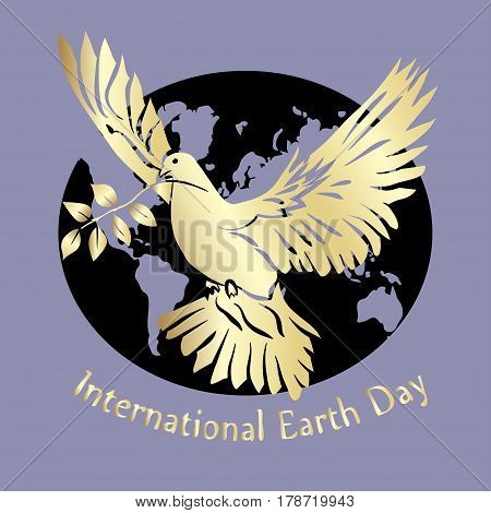 International day of Peace illustration. Dove of Peace. Vector illustration.