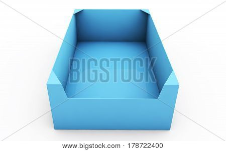 box. High resolution 3D illustration with clipping paths.
