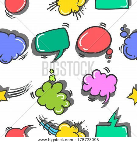 Collection stock of text balloon colorful vector art