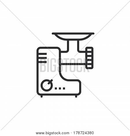Meat grinder line icon electric mincer outline vector sign linear pictogram isolated on white. logo illustration