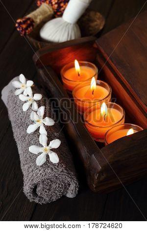 Set Thai spa and massage for healt.