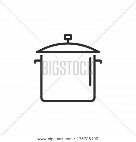 Saucepan line icon outline vector sign linear pictogram isolated on white. logo illustration