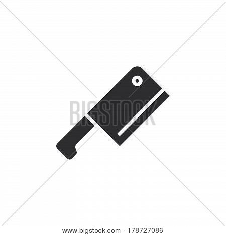 Meat Cleaver Butcher Knife icon vector solid flat sign pictogram isolated on white logo illustration