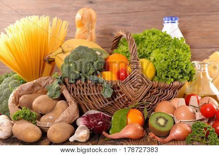 assorted grocery products