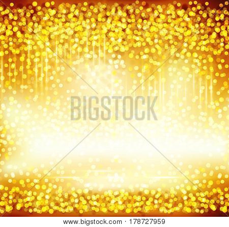 Abstract gold background with flare. Element for design holiday or event.