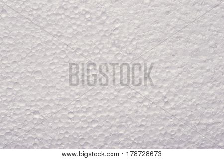 highly detailed background of white styrofoam material