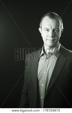 Businessman In Suit No Tie