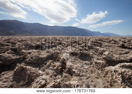 Death Valley in California the most arid place in USA