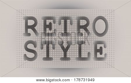 Retro. Text. Signature. Retro style pop art. Vintage vector font for labels, headers, posters etc.