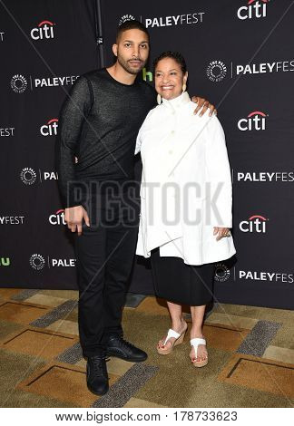 LOS ANGELES - MAR 19:  Debbie Allen and Norm Nixon Jr. arrives for the PaleyFest 2017-Grey's Anatomy on March 19, 2017 in Hollywood, CA