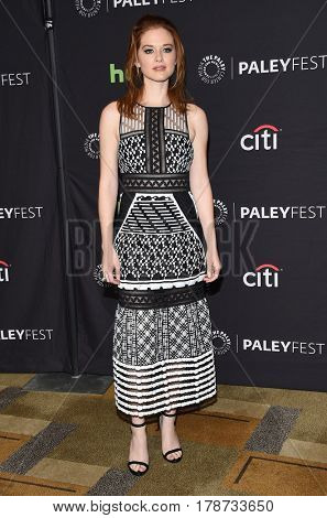 LOS ANGELES - MAR 19:  Sarah Drew arrives for the PaleyFest 2017-Grey's Anatomy on March 19, 2017 in Hollywood, CA